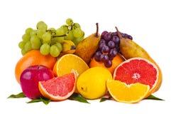 Bunte Gruppe frische Früchte Stockbilder