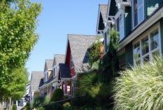 Bunte Häuser Stockfotos