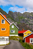 Bunte Häuser Lizenzfreies Stockfoto
