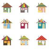 Bunte Häuser Stockbild
