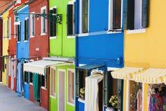 Bunte Häuser Lizenzfreies Stockbild
