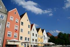 Bunte Häuser Stockfoto