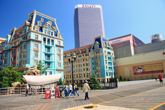 Bunte Häuser in Atlantic City lizenzfreies stockfoto