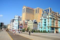 Bunte Häuser in Atlantic City Stockfotografie