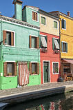 Bunte Häuser in Burano Lizenzfreie Stockfotografie