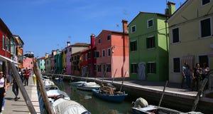 Bunte Häuser in Burano-Insel, Venedig, Italien Stockfoto