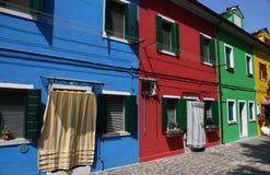 Bunte Häuser in Burano-Insel, Venedig, Italien Stockfotos