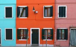 Bunte Häuser in Burano-Insel, Venedig, Italien Stockbild