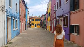 Bunte Häuser in Burano, Venedig lizenzfreie stockfotografie
