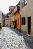Bunte Häuser in Erfurt Stockbild
