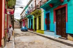 Bunte Häuser - Havana, Kuba Lizenzfreie Stockbilder