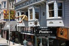 Bunte Häuser im böhmischen Bezirk von San Francisco Lizenzfreie Stockfotos