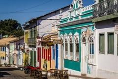 Bunte Häuser, LençÃ-³ ist, Chapada Diamantina, Bahia, Brasilien lizenzfreie stockfotos