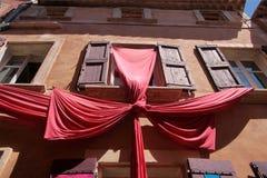 Bunte Häuser in Roussillon Lizenzfreies Stockfoto