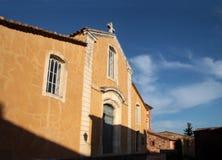 Bunte Häuser in Roussillon Lizenzfreies Stockbild