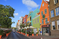 Bunte Häuser in Willemstad, Curaçao Stockfoto