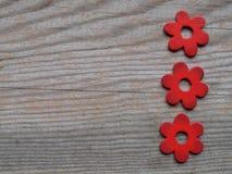 Hölzerne Blumen stockfotografie
