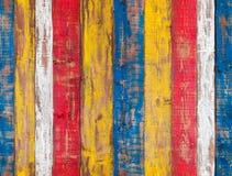 Bunte hölzerne Wand Nahtlose Hintergrundbeschaffenheit Lizenzfreies Stockbild