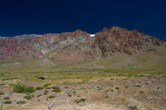 Bunte Hügel Stockbild