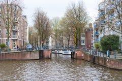 Bunte H?user und Architektur von Amsterdam, die Niederlande stockbild
