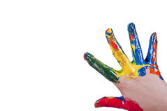 Bunte Hand Lizenzfreies Stockbild
