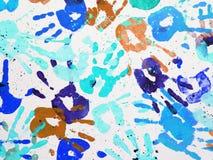 Bunte Handdrucke Lizenzfreies Stockbild