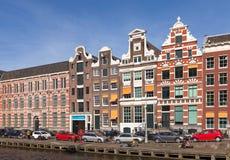 Bunte Hausfassaden von Amstrdam Lizenzfreies Stockfoto