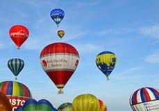 Bunte Heißluftballone Lizenzfreies Stockbild