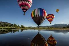 Bunte Heißluftballone Stockfotografie
