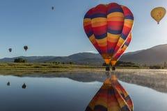 Bunte Heißluftballone Lizenzfreies Stockfoto