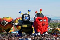 Bunte Heißluftballone mit speziellen Formen Lizenzfreies Stockfoto