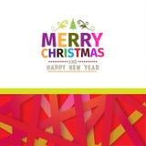 Bunte helle Grußkarte der frohen Weihnachten Stockfotografie