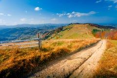 Bunte Herbst-Landschaft Stockfotografie