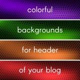 Bunte Hintergründe für Titel Ihres Blogs Stockfotografie