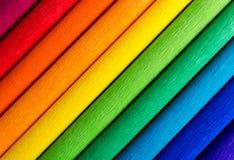 Bunte Hintergrundlinien des Regenbogens Stockbilder