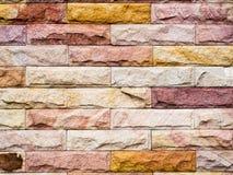 Bunte horizontale Architekturtapete des Ziegelsteines Lizenzfreies Stockbild