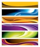 Bunte horizontale Fahnen-Ansammlung Lizenzfreies Stockfoto