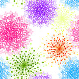 Bunte Hortensie-Blumen-nahtloser Hintergrund lizenzfreie abbildung