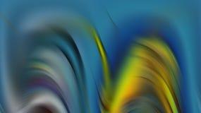 Bunte hypnotische blaue silberne machen abstrakten Hintergrund der Wellen, abstrakten Hintergrund glatt Lizenzfreies Stockfoto