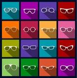 Bunte Ikonensonnenbrille Lizenzfreies Stockfoto