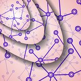 Bunte Illustration DNA Stockfoto