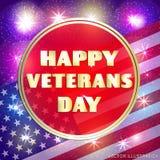 Bunte Illustration für glücklichen Veteranentag Lizenzfreie Stockfotos