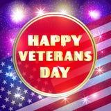 Bunte Illustration für glücklichen Veteranentag Lizenzfreie Stockfotografie