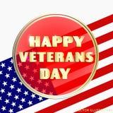 Bunte Illustration für glücklichen Veteranentag Lizenzfreies Stockbild
