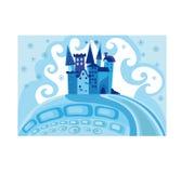 Bunte Illustration mit Prinzessinschloss Lizenzfreie Stockfotografie