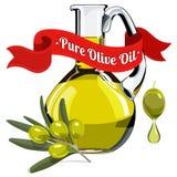 Bunte Illustration Olivenöls 1 Stockbilder