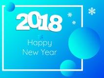 Bunte Illustration von guten Rutsch ins Neue Jahr 2018 Lizenzfreie Stockfotografie