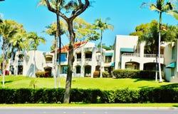 Bunte Immobilien von Maui-Insel Stockfotos