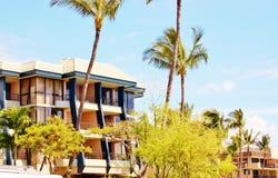 Bunte Immobilien von Maui-Insel Stockbild