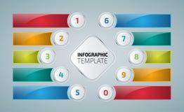 Bunte infographics oder Websiteplanschablone Lizenzfreies Stockbild